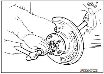Nissan Rogue Service Manual: Removal and installation - AWD