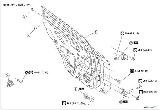 nissan rogue service manual  removal and installation - with intelligent key system