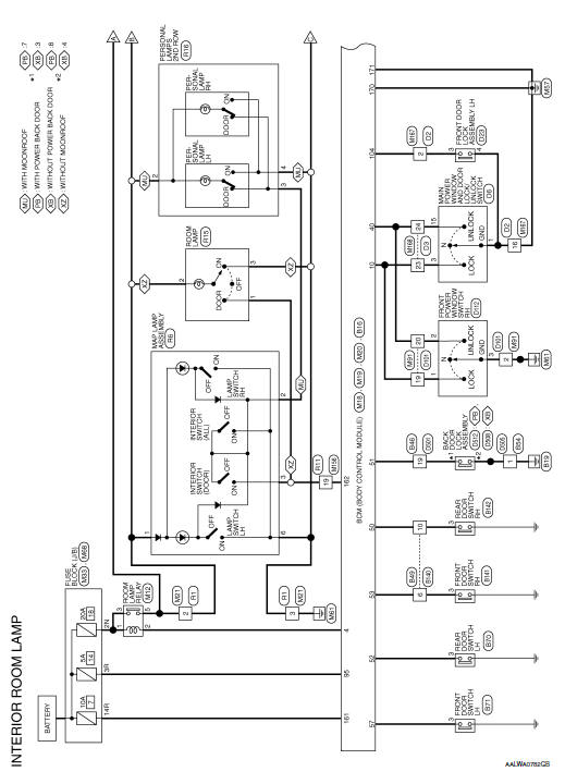 nissan rogue service manual interior room lamp control systemNissan An Interior Lights Wiring Diagram #18