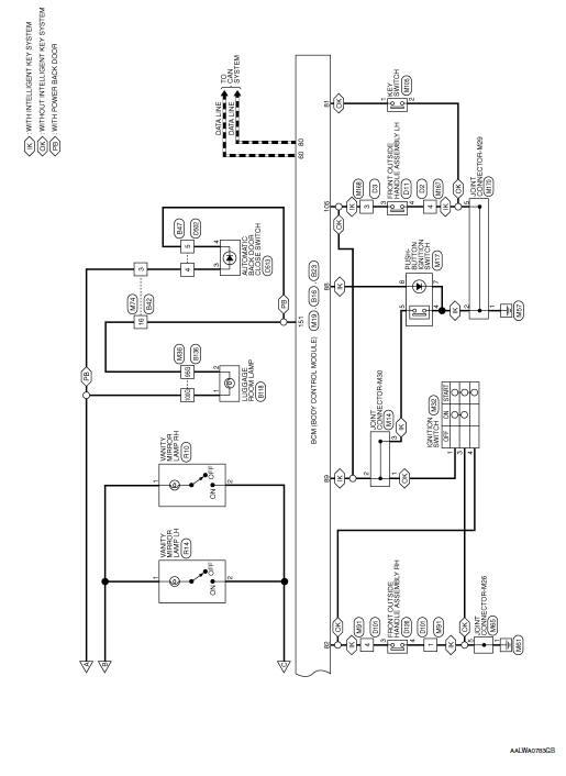 Nissan Rogue Service Manual  Interior Room Lamp Control